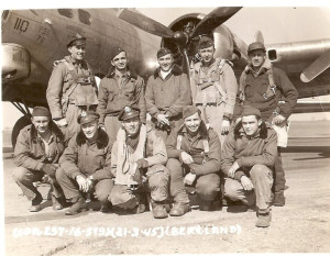 Wayne Thompson and one of the B-17 crews he flew with during WWII. For more photos, visit the Hometown Heroes facebook page.