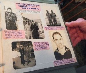 Grant's scrapbook features photos of his four brothers who also served in World War II.