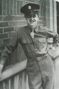 Ed Larson as a young Army Air Corps trainee. For more photos, visit the Hometown Heroes facebook page.