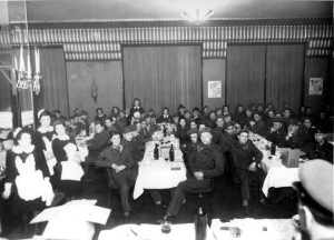 This photo of the Passover seder Sel Dante experienced in Belgium in 1945 is part of a collection at Yad Vashem, the World Holocaust Remembrance Center.
