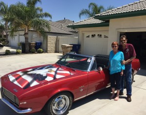 Jack and Carol Craig with their 1967 Camaro convertible. For more photos, visit the Hometown Heroes facebook page.