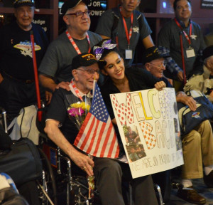 Selwyn Dante celebrating with family after returning home from Washington, D.C. with Honor Flight Southern Nevada.