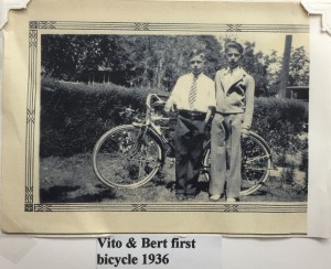 Vito with his only brother, Bert, who was served while serving as an aircraft mechanic in India during World War II.