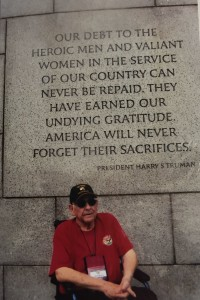 Vito visited the National World War II Memorial with Central Valley Honor Flight.