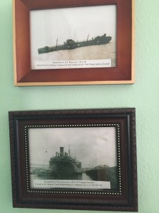 The top photo of the Royal Oak was snapped by Mike, from the mast of the USS Recovery.