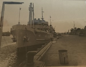 This view of the USS Recovery gives you an idea of just how far Mike De Cesare fell.