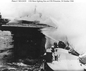 The USS Reno was one of four ships that tried, unsuccessfully, to save the carrier USS Princeton.