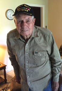 Vernon Martin at age 92. For more photos, visit the Hometown Heroes facebook page.