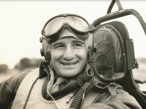 Turk Eliades in the cockpit of a P-51 Mustang. For more photos relating to Turk and his story, visit the Hometown Heroes facebook page.