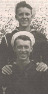 Richard Artley (top) and brother Daryle served together aboard the USS Oklahoma.