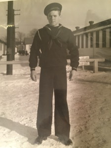 Russ at Great Lakes Naval Training Station in 1940. For more photos, visit the Hometown Heroes facebook page.