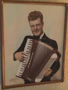 Shown here at age 16, Kenny began playing the accordion when he was eight. For more photos, visit the Hometown Heroes facebook page.