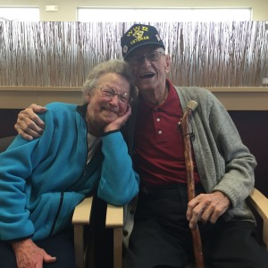 Pat and Leo Neubauer after nearly 66 years of marriage. For more photos visit the Hometown Heroes Facebook page.